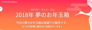 ヨドバシ・ドット・コム 2018年 夢のお年玉箱の抽選結果!!!