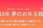 ヨドバシ・ドット・コム 2018年 夢のお年玉箱の予約受付中!!!